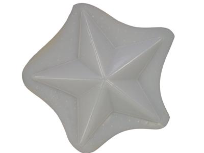 Decorative 7 Inch Star Concrete Or Plaster Mold 7211