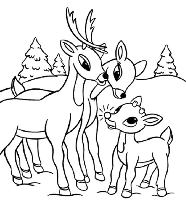 rudolph the red nosed reindeer coloring page # 1