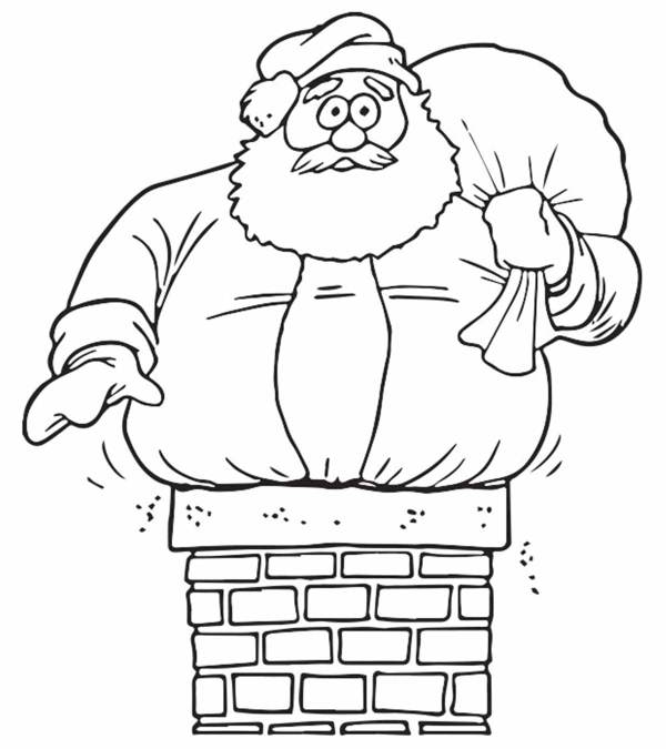 coloring pages of santa claus # 3