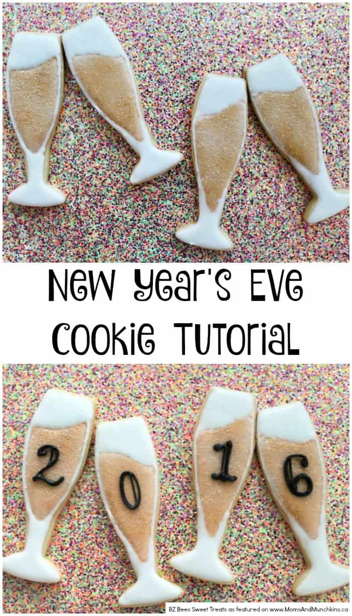 New Year S Eve Cookies Champagne Glasses