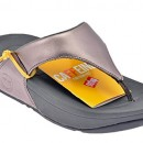 FitFlop Lulu Pewter Womens Sandals Size 40 EU