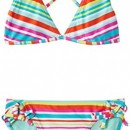 Roxy Halter – Bikini – Fille, Multicolore (Surfs Up Turquoise), 10 ans