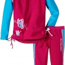 Zunblock Butterfly Ensemble anti-UV Haut manches longues + short Fille Hollywood FR : 8 ans (Taille Fabricant : 122/128)