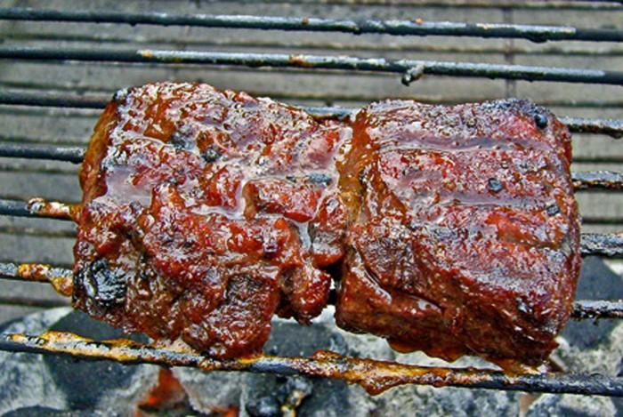 Bacon Wrapped Tenderloin Venison Roast