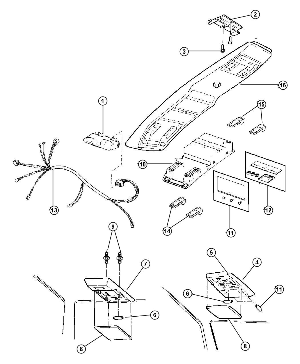 Console Jeep Wiring Overhead Cherokee