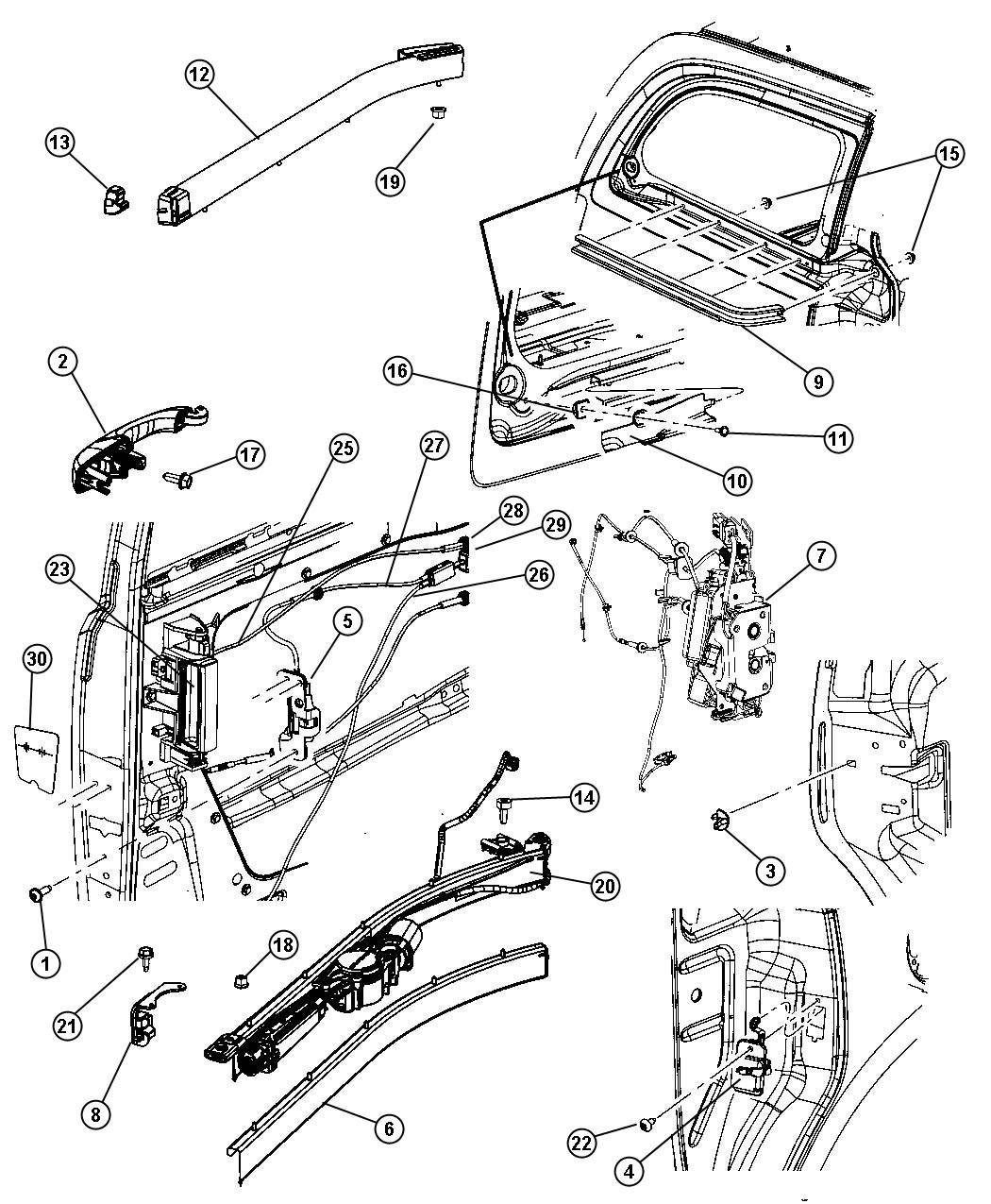 Dodge caravan sliding door parts images