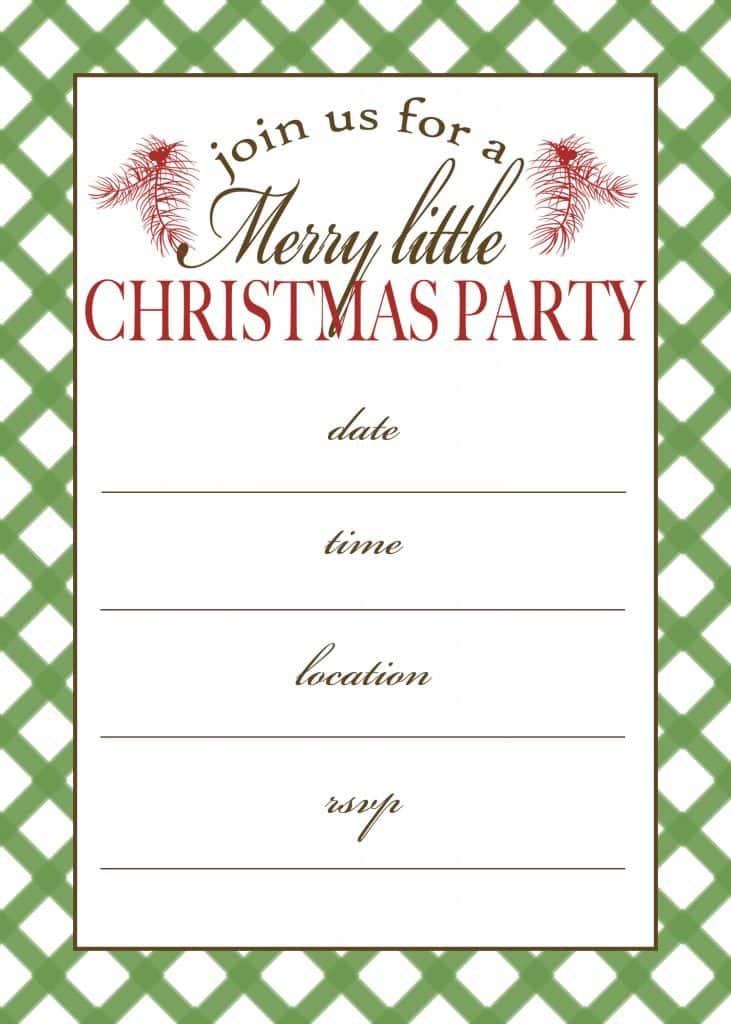 Christmas Party Invitations Printable