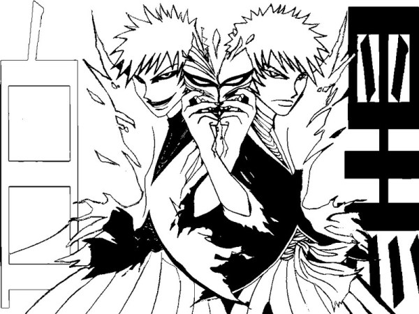 bleach coloring pages # 12