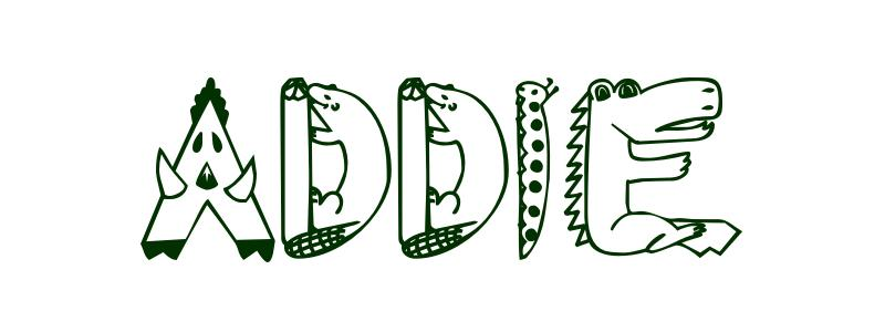 Coloring Page First Name Addie