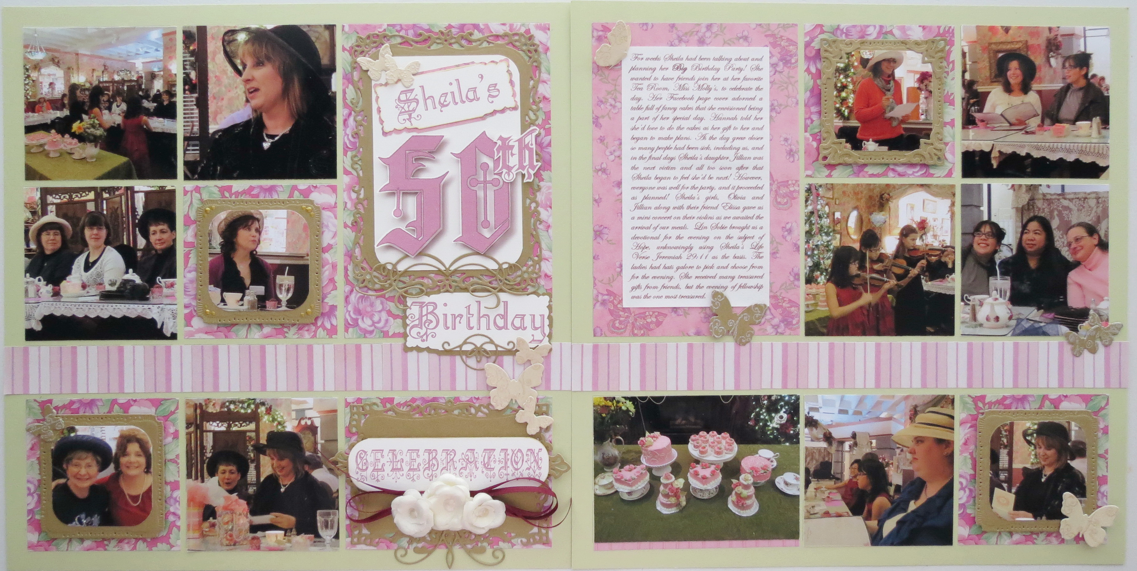 Baby Shower Scrapbook Ideas Mosaic Moments Page Layout