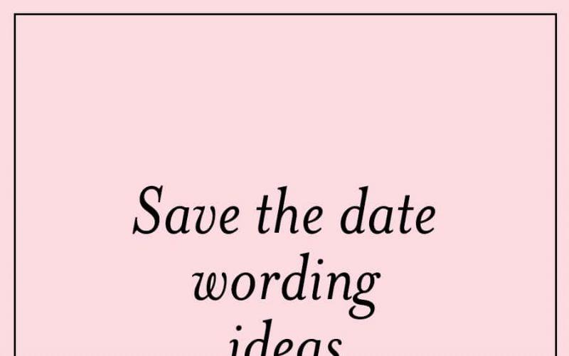 Message Save Date Ideas