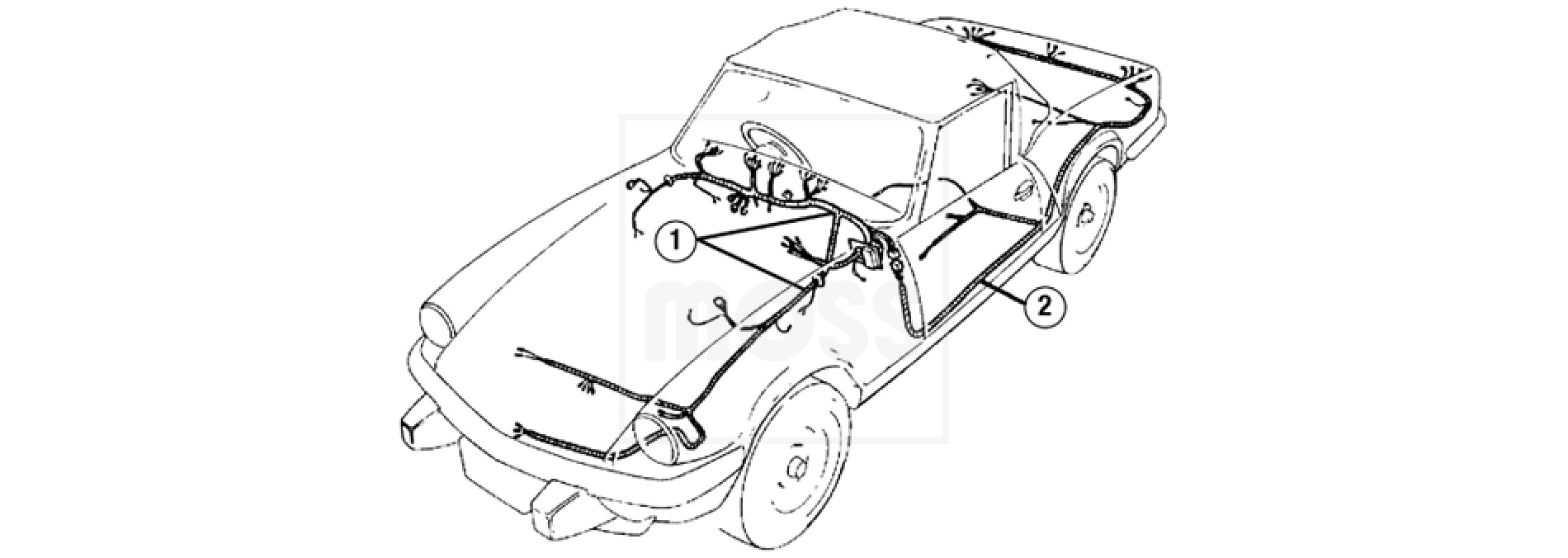 Wiring harnesses spi 16 16 01 wiring harnesseshtml austin healey 3000 wiring diagram austin healey 3000 wiring diagram