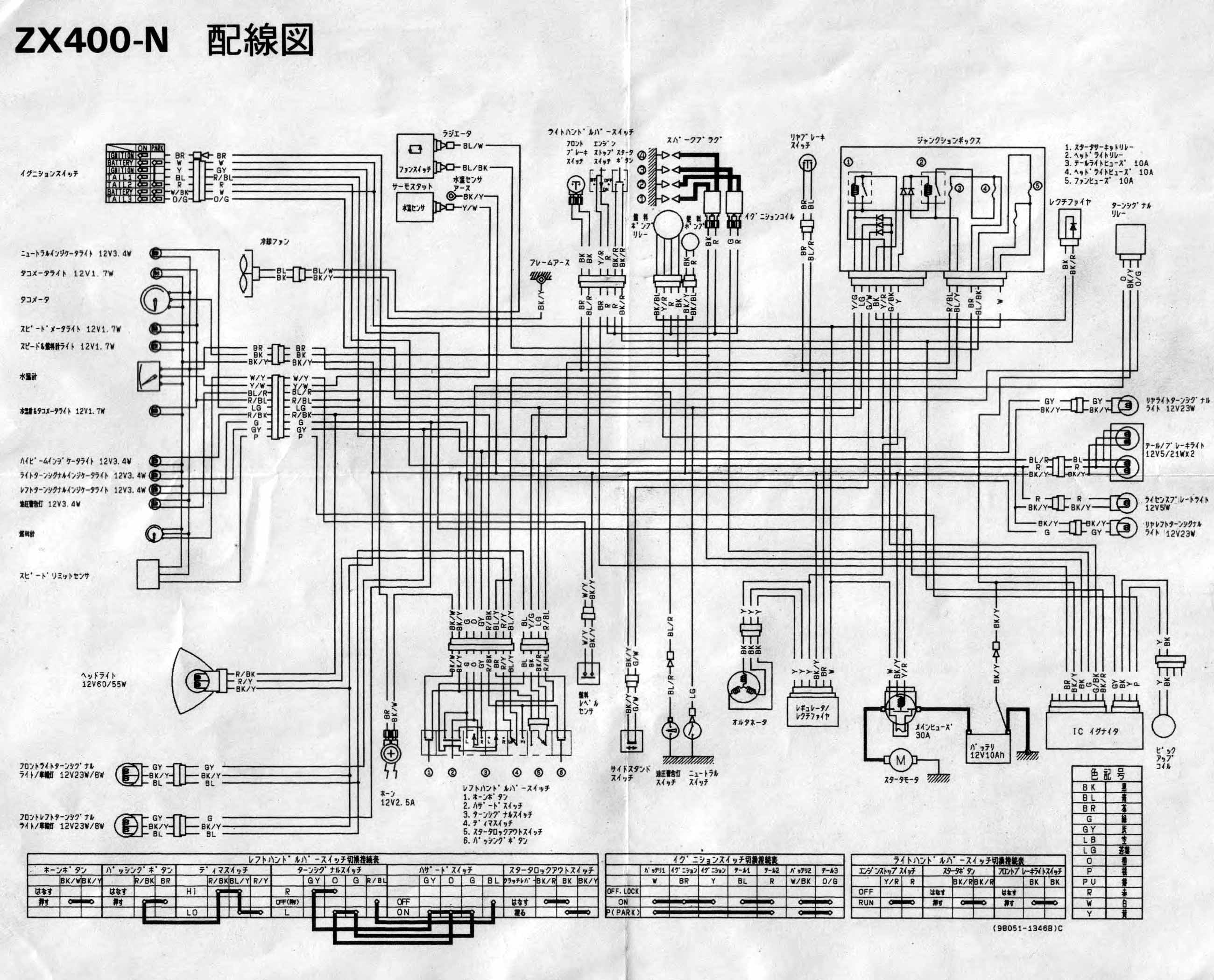 kawasaki zzr 400 wiring diagram circuit diagram symbols \u2022 zxr 400 l wiring  diagram at
