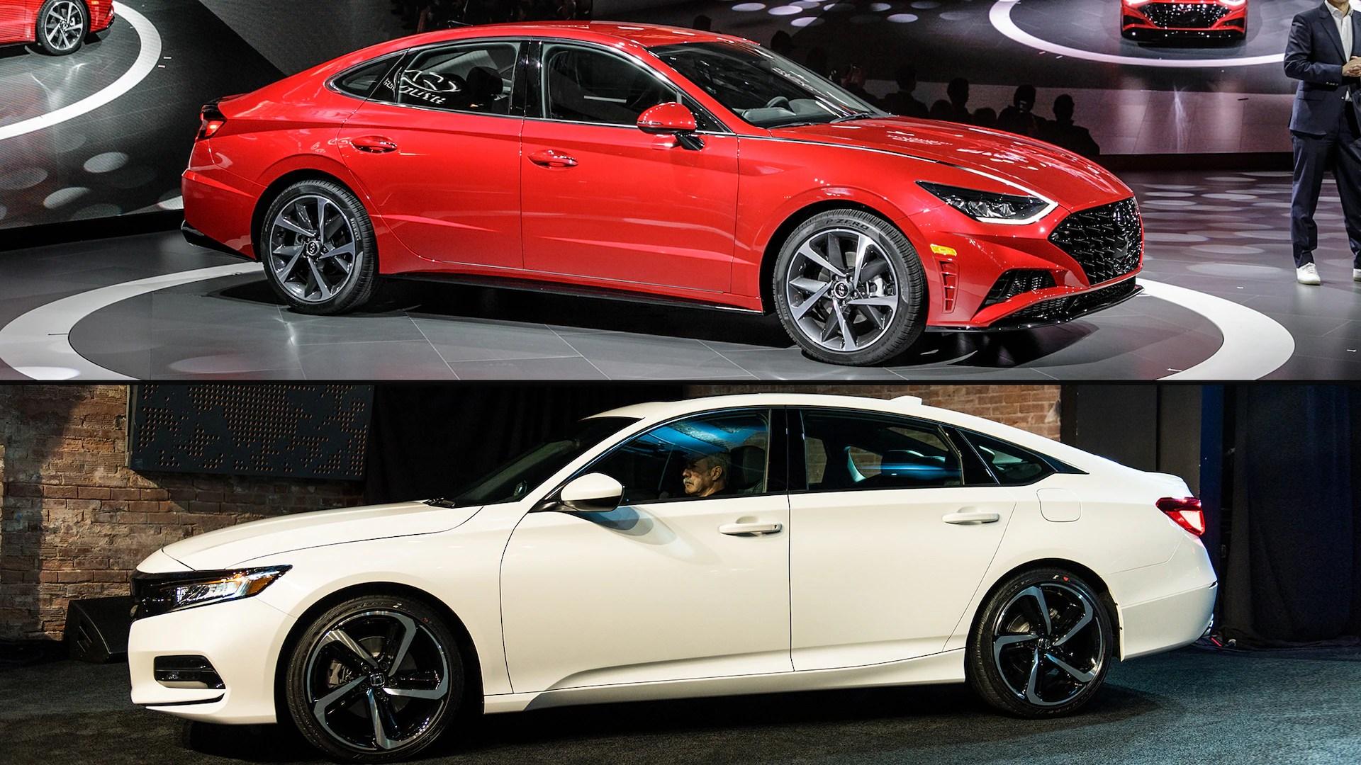 Auto Showdown 2020 Hyundai Sonata Vs 2019 Honda Accord Motor Trend