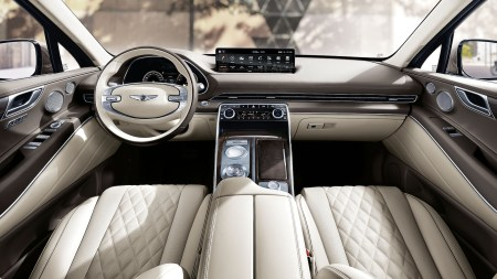 the 2021 genesis gv80 s interior is seriously luxurious