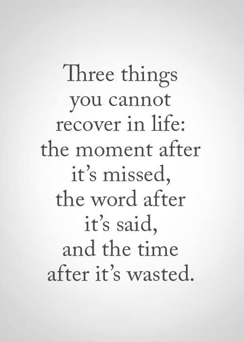 Wasting Precious Time Quotes