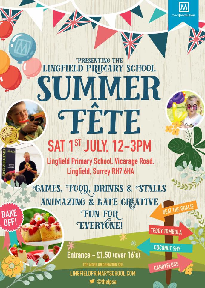 Lingfield Primary School S Summer Fete Sponsored By Move