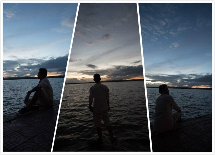 戈公海濱夕陽自拍