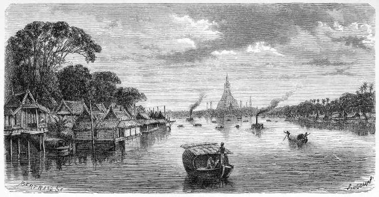 亨利·穆奧 素描下的昭披耶河