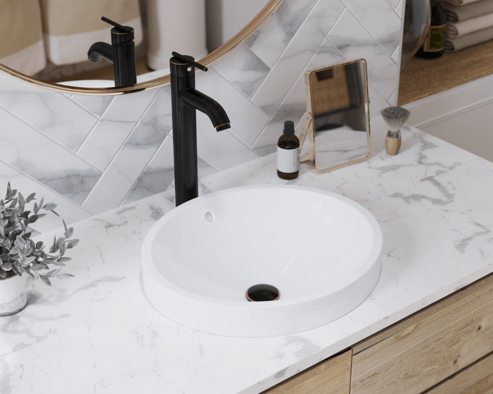 Modern Bathroom Sink Faucet 4 Center