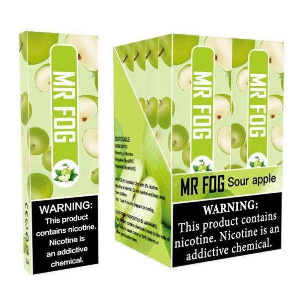 MR FOG DISPOSABLE POD DEVICE 1.5ML POD DEVICE 6% Apple