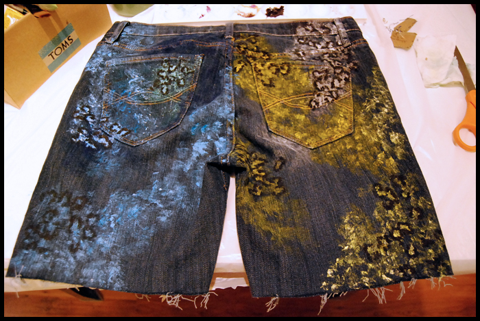 Mr Kate Diy Hand Painted Ugly Shorts