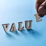Letters spelling out value
