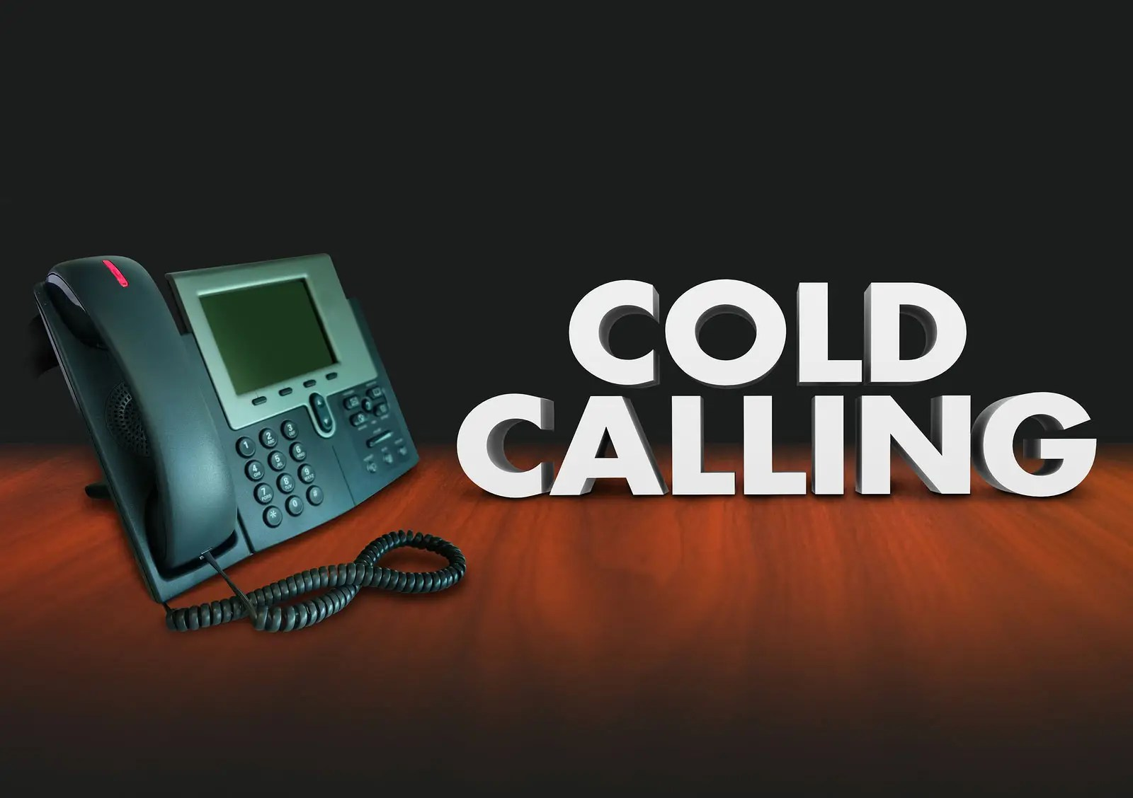 Cold Calling words with telephone