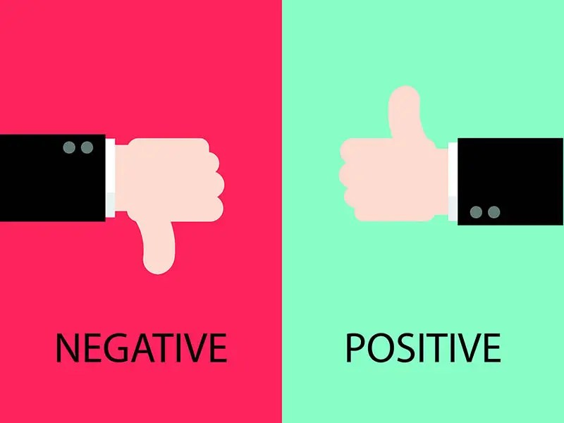 Negative And Positive Feedback By Hands