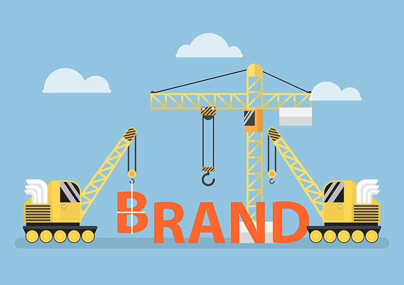 Construction Site Crane Building Big Brand Word
