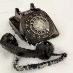 Telephone in the snow