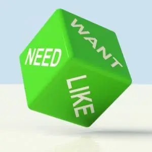 Need want like on green cube