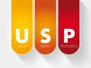 Usp - Unique Selling Proposition Acronym, Business Concept Backg