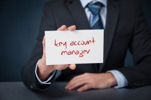 key account management red words in hand
