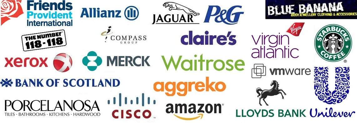Logo list of our clients who have used us for appointment setting training courses