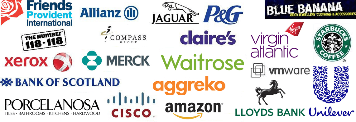 Logo list of our clients who have used us for customer service training courses
