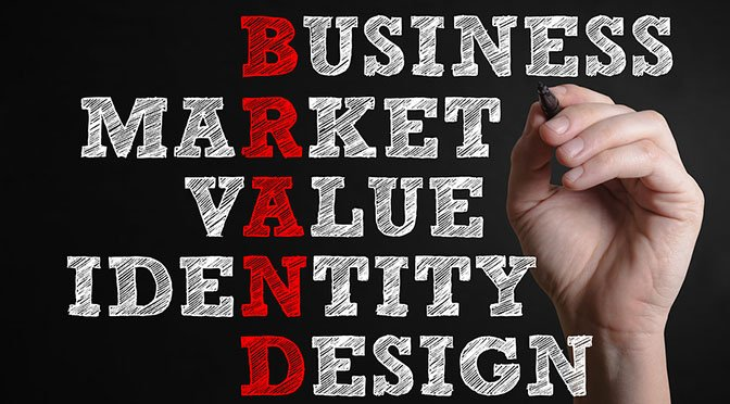 Business Market Value Identity Design. Brand advertising marketing strategy identity business concept.
