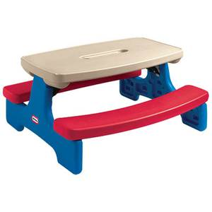 Little Tikes Easy Store Picnic Table Bench Children Step2