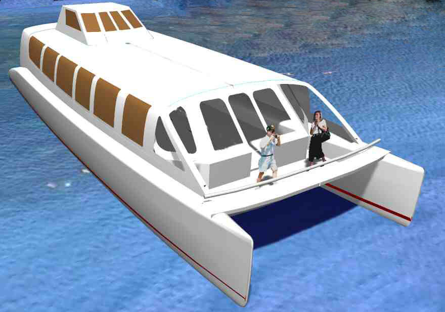 Power Catamaran Hull Plans