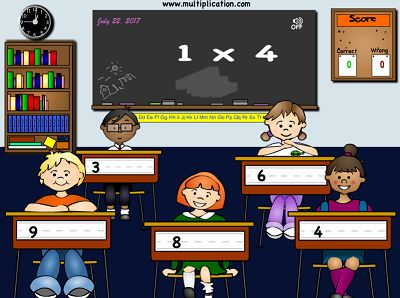 Classroom Capers   Free Online Multiplication Game   Multiplication com Solve Multiplication Problems in Classroom Capers   Multiplication com