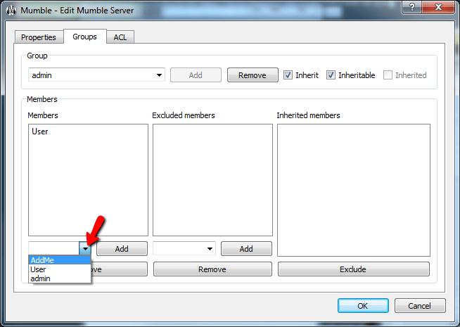 Add User Admin Group