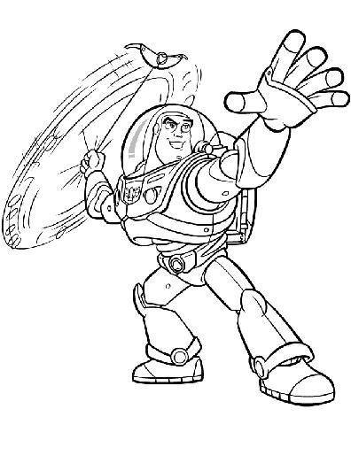 buzz lightyear coloring page # 81