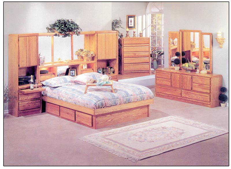Oak Waterbed Furniture   Free Shipping Oak Bed Wall for Waterbeds