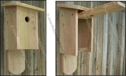 Free Bluebird House Plans   How to Build a Bird House Bluebird house plans