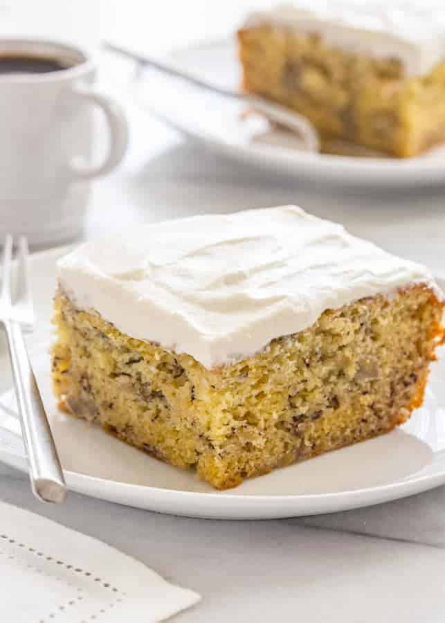Moist Banana Cake   My Baking Addiction Moist Banana Cake that s good for breakfast or an afternoon pick me up