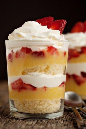 Simple Lemon Strawberry Parfaits Recipe