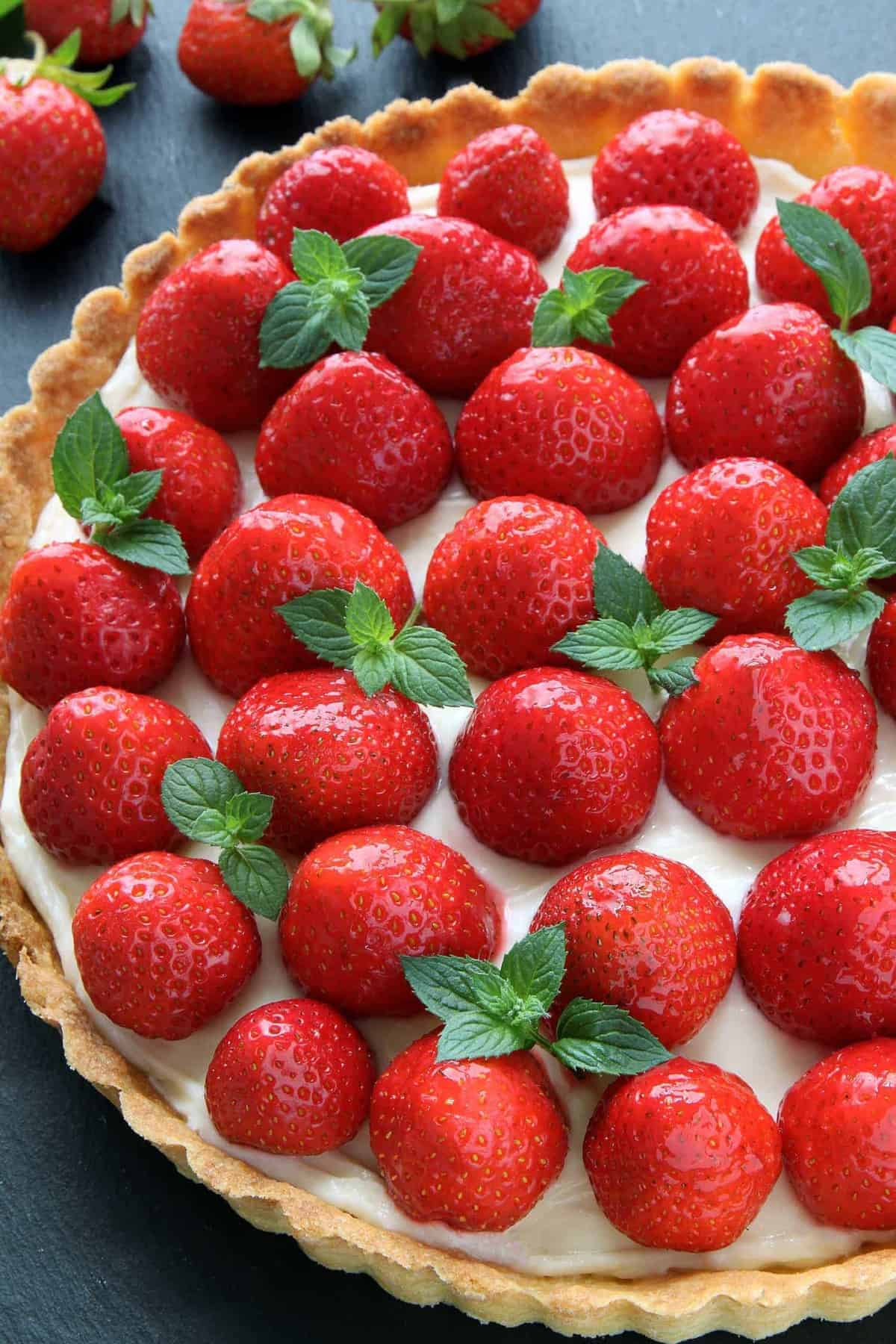 Strawberry Cream Cheese Tart My Baking Addiction