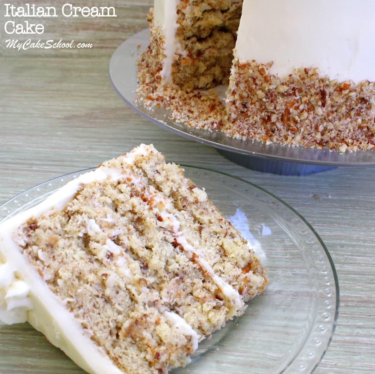 Italian Cream Cake Scratch Recipe My Cake School