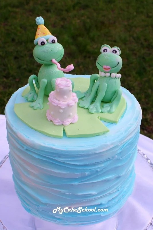 How To Make Frog Topper My Cake School