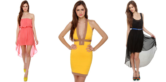 Shopping  Help Pick A Sexy Dress   My Fashion Juice Well    help a girl out  What do you think would look best on me  The coral   yellow or black dress  Let s take a closer look